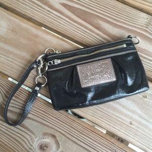 Coach Poppy Patent Leather Wristlet